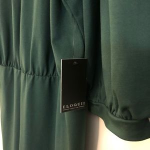 5e09273dbf Eloquii Dresses - ELOQUII Green Puff Sleeve Tie Back Ponte Dress 20